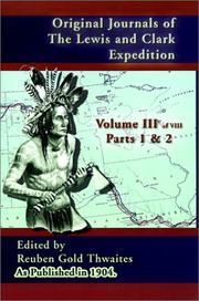 Cover of: Original Journals of the Lewis and Clark Expedition, Volume 3 (Journals of the Lewis and Clark Expedition)