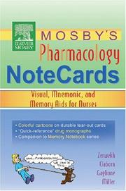 Mosbys Pharmacology Memory NoteCards