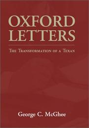 Oxford letters by George C. McGhee