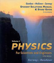 Cover of: Physics For Scientists & Engineers Study Guide, Vol 1