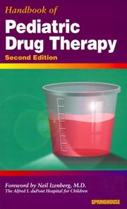 Cover of: Handbook of Pediatric Drug Therapy