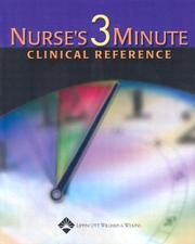 Cover of: Nurse's 3-Minute Clinical Reference