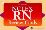 Cover of: Springhouse Nclex-Rn Review Cards (Medical-Surgical Nursing)