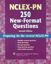 Cover of: NCLEX-PN 250 new-format questions |