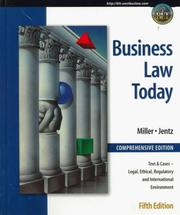 Cover of: Business Law Today, Comprehensive: Text, Cases, Legal, Ethical, Regulatory, and International Environment