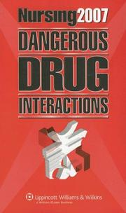 Cover of: Nursing2007 dangerous drug interactions. |