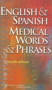 Cover of: English & Spanish Medical Words & Phrases