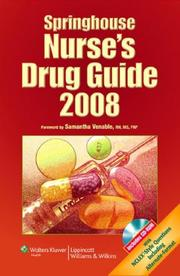 Cover of: Springhouse Nurse's Drug Guide 2008 (Springhouse Nurse's Drug Guide)