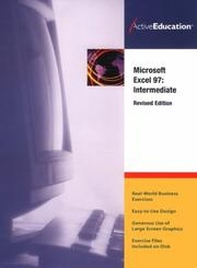Cover of: ActiveEducation's Excel 97 Intermediate (Revised)