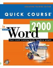 Cover of: Quick course in Microsoft Word 2000