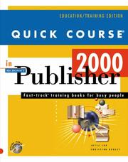 Cover of: Quick course in Microsoft Publisher 2000