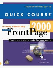 Cover of: Quick course in creating a Web site using Microsoft FrontPage 2000
