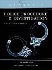 Cover of: Police Procedure & Investigation | Lee Lofland