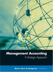 Cover of: Management Accounting by Wayne J. Morse, James R. Davis, Al L. Hartgraves