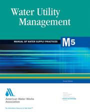 Water utility management by American Water Works Association