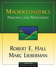 Cover of: Macroeconomics | Robert E. Hall