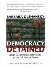 Cover of: Democracy Detained | Barbara J. Olshansky