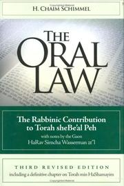 Cover of: The Oral Law