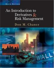 Cover of: An Introduction to Derivatives and Risk Management | Don M. Chance