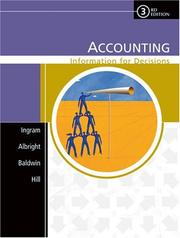 Cover of: Accounting | Robert W. Ingram