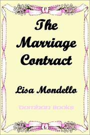 Cover of: The Marriage Contract | Lisa Mondello