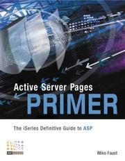 Cover of: Active Server Pages Primer | Mike Faust