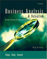 Business Analysis and Valuation by Krishna G. Palepu