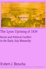Cover of: The Lyon uprising of 1834
