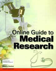Cover of: Online guide to medical research
