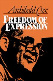 Cover of: Freedom of Expression