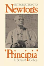 Cover of: Introduction to Newton's 'Principia'