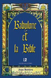 Cover of: Babylone Et LA Bible