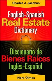 Cover of: English-Spanish real estate dictionary =