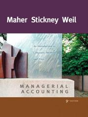 Cover of: Managerial accounting | Michael Maher