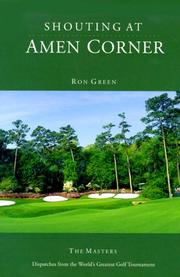 Cover of: Shouting at Amen Corner | Ron Green