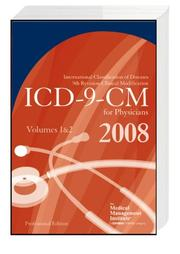 Cover of: ICD-9-CM 2008 Volumes 1 & 2, Professional for Physicians (6x9 Compact) | The Medical Management Institute; a contexo media company