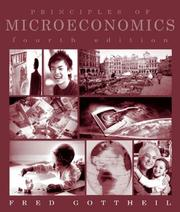 Cover of: Principles of Microeconomics | Fred M. Gottheil