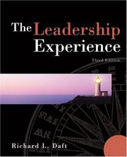 Cover of: The Leadership Experience (Thomson - South-Western)