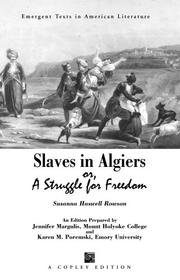 Cover of: Slaves in Algiers or A Struggle for Freedom