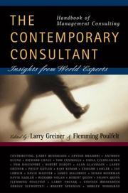 Cover of: Handbook of Management Consulting | Larry  E. Greiner