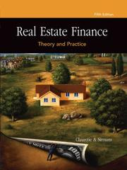 Cover of: Real Estate Finance | Terrence M. Clauretie