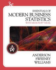 Cover of: Essentials of modern business statistics with Microsoft Excel by