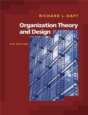 Cover of: Organization Theory and Design