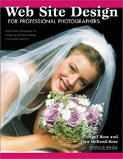 Cover of: Web site design for professional photographers | Paul Brooks Rose
