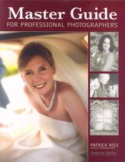 Cover of: Master Guide for Professional Photographers | Patrick Rice