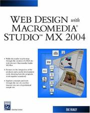Cover of: Web Design With Macromedia Studio MX 2004 (Internet Series) | Eric Hunley