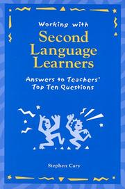 Cover of: Working with second language learners | Stephen Cary