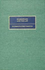 Cover of: Shakespeare and the law