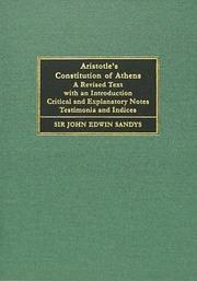 Cover of: Aristotle's Constitution of Athens