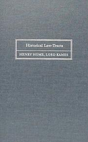 Cover of: Historical law-tracts